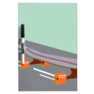 Skateboard Dry-Erase Board