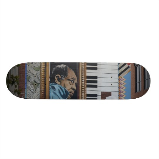 Skateboard, Duke Ellington Wall Mural, DC Skateboard