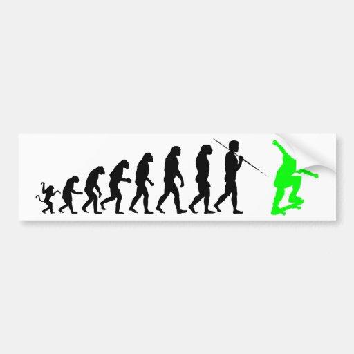 skateboard_evolution pegatina para auto