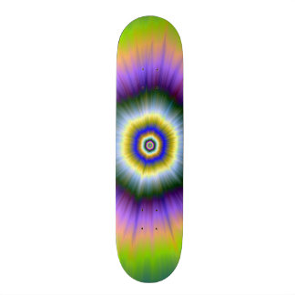 Skateboard    Explosion in Yellow and Violet