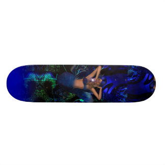 Skateboard Fantasy Art Star Mermaid