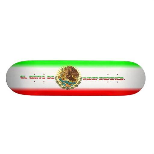 "Skateboard-Fiesta-set-2-Flag Patineta 8 1/2"""