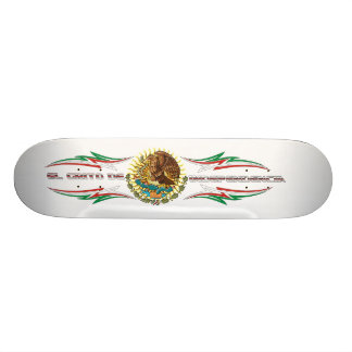 Skateboard-Fiesta-set-3-White Skateboard Deck