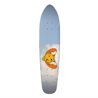Skateboard fish in the clouds