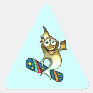 Skateboard Fish Triangle Sticker