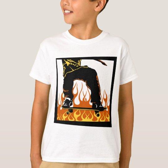 Skateboard flames t-shirt
