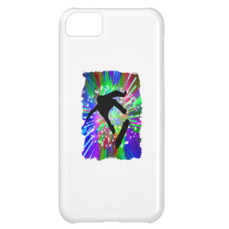 Skateboard Flip Out in Fireworks Cover For iPhone 5C