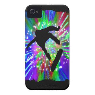 Skateboard Flip Out in Fireworks iPhone 4 Case