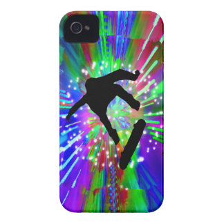 Skateboard Flip Out in Fireworks iPhone 4 Cover