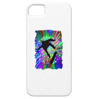 Skateboard Flip Out in Fireworks iPhone SE/5/5s Case