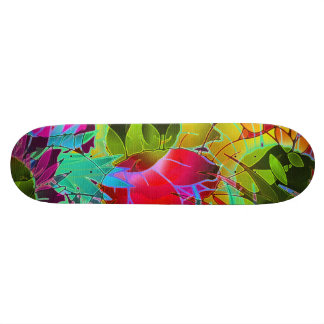 Skateboard Floral Abstract Artwork