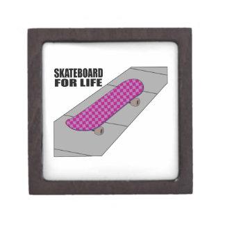Skateboard For Life Premium Keepsake Box