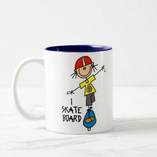 Skateboard Gift Two-Tone Coffee Mug