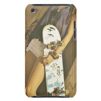 Skateboard girl IPod case Barely There iPod Cover