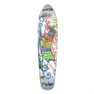 """Skateboard """"Girls Rule!"""""""