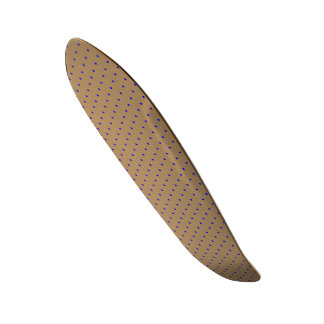 Skateboard Gold with Royal Blue Dots