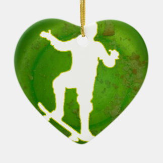 SKATEBOARD GREEN BACKGROUND PRODUCTS CHRISTMAS ORNAMENT