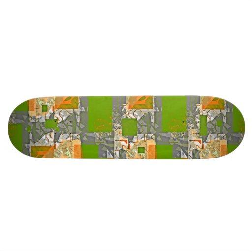 Skateboard Green Break Up Skateboard Deck