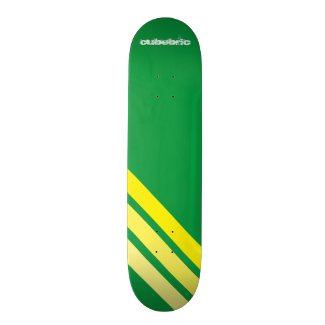 Skateboard Green Yellow Stripes Cubebric