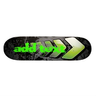 skateboard grunge green arrow