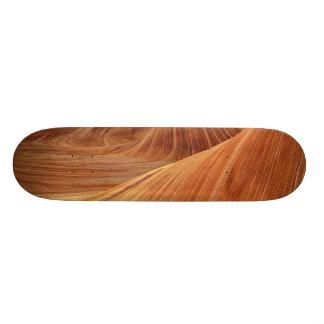Skateboard- Hard Rock Maple with wood color design Skateboard Deck