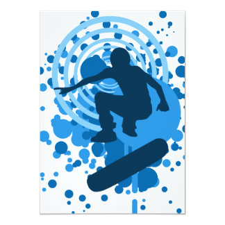skateboard hi-fi bubbles custom invitation