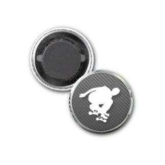 Skateboard Icon 1 Inch Round Magnet