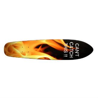 Skateboard in flames