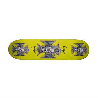 Skateboard - Iron Cross Skull & Dragon