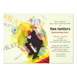 Skateboard Kid Invitation