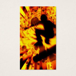 skateboard light explosion business card