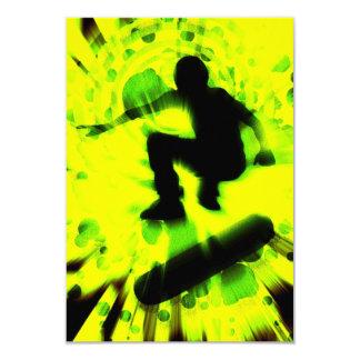 skateboard light explosion card