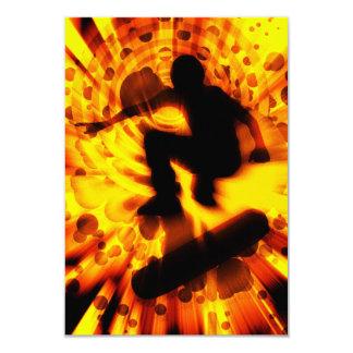 skateboard light explosion 3.5x5 paper invitation card