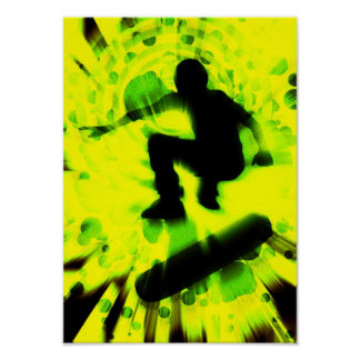 skateboard light explosion poster