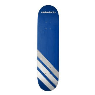 Skateboard Lines Blue Cubebric