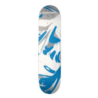Skateboard Liquid Blue Cubebric