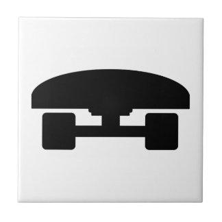 Skateboard logo icon tile