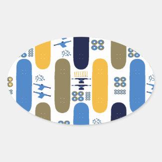 Skateboard Madness (BB) Oval Sticker