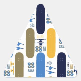 Skateboard Madness (BB) Triangle Sticker
