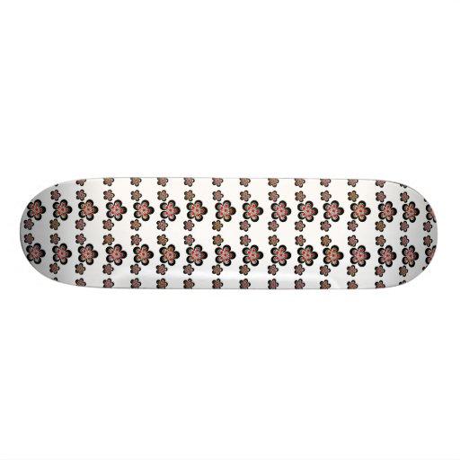 Skateboard Metal Red Silver Skate Boards