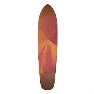 "Skateboard ""No Paradox"" design 1 wine / gold"