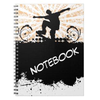 Skateboard Notebook Spiral Note Books