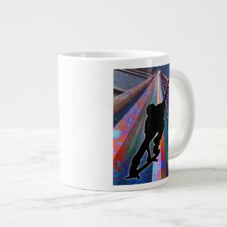 Skateboard on a Building Ray Large Coffee Mug