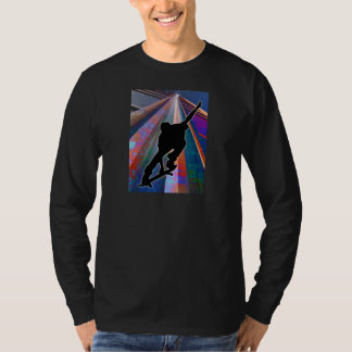 Skateboard on a Building Ray T-Shirt