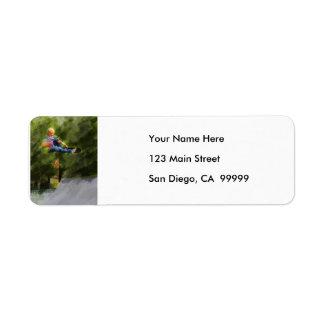 Skateboard on a Ramp Custom Return Address Labels