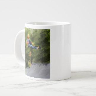 Skateboard on a Ramp Large Coffee Mug