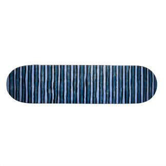 Skateboard, Painted Stripes, Lt. Blue and Blue Skateboard
