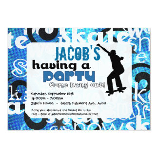 Skateboard Party Invitation