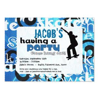 Skateboard Party Invitation