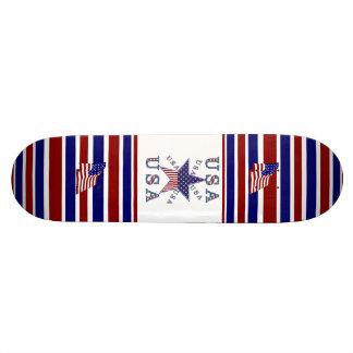 Skateboard Patriotic USA Flag Stars